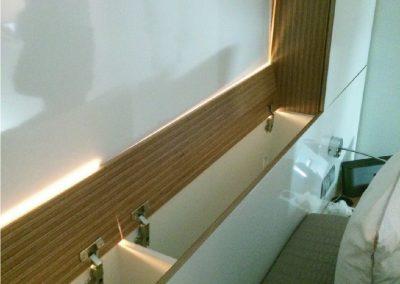 Cabezal contrachapado y laminado blanco brillo - piso valencia.