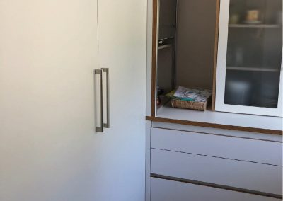 Cocina contrachapado abedul, laminado blanco 04