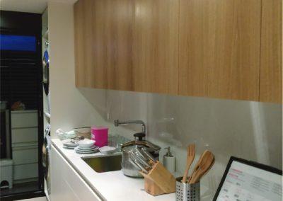 Cocina lacado blanco y roble - piso valencia