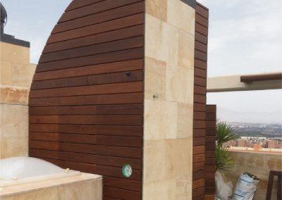 Cuarto de baño en terraza