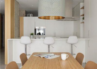 Mobiliario de cocina de laminado blanco soft - Piso en Alicante - 02