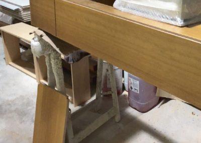 Muebles de baño. Contrachapado de abedul, chapado en iroko 01