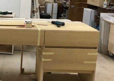 Muebles de baño. Contrachapado de abedul, chapado en iroko 02