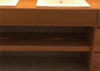 Muebles de baño. Contrachapado de abedul, chapado en iroko 04