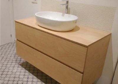Mueble de baño de tablero de abedul natural-01