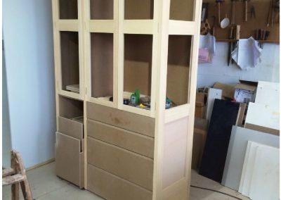 Mueble salón lacado en blanco ral 9001-1