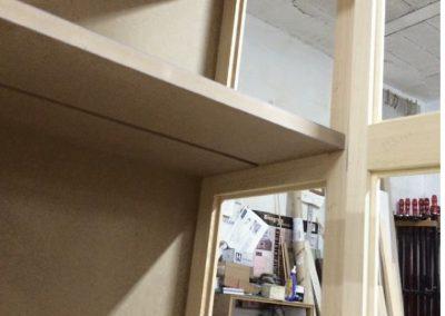Mueble salon lacado en blanco ral 9001-3