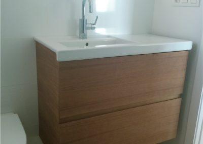 Muebles de baño de contrachapado de abedul natural - piso valencia